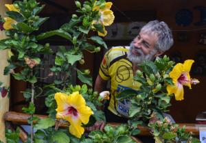 John amidst the hibiscus (1 of 1)