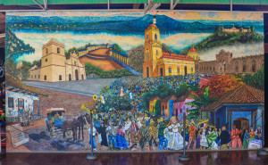 Mural in Masaya of colonial history (1 of 1)